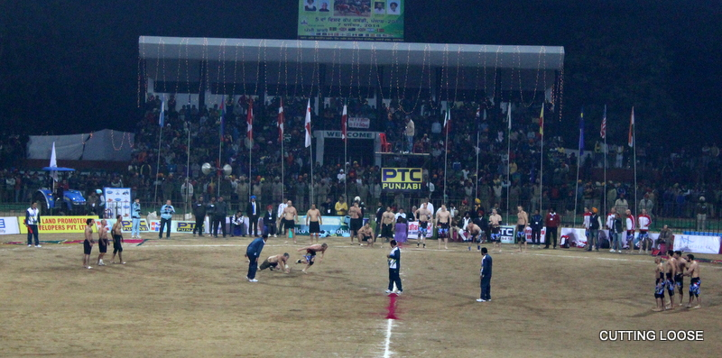 Kabbaddi match in progress, Gurdaspur