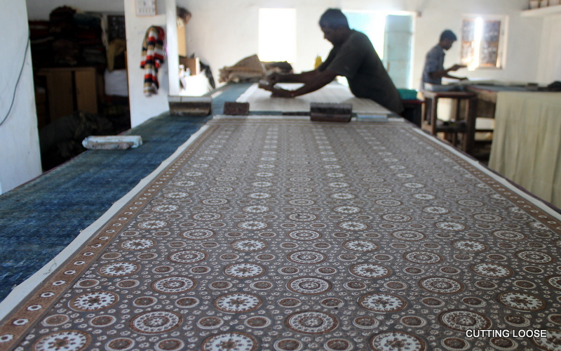 Ajrak, before dyeing